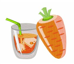 Fresh Carrot Juice embroidery design