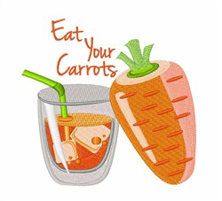 Eat Carrots embroidery design
