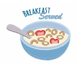 Cereal & Milk Breakfast embroidery design
