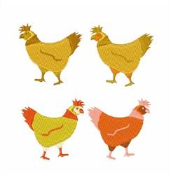 Chicken Hen embroidery design