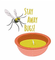Stay Away Bugs! embroidery design