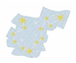 Aquarius Constellation Stars embroidery design
