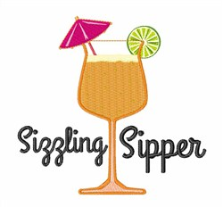 Sizzling Sipper embroidery design