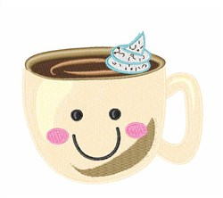 Happy Coffee embroidery design