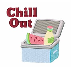 Chill Out Ice Chest embroidery design