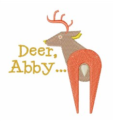 Deer Abby embroidery design
