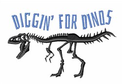 Diggin For Dinos embroidery design