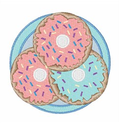 Donut Plate embroidery design