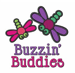 Buzzin Dragonfly Buddies embroidery design