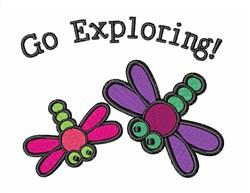 Go Exploring embroidery design