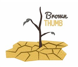 Brown Thumb embroidery design