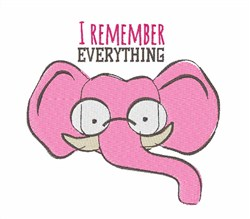 Remember Everything embroidery design
