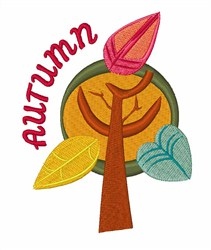 Autumn Tree embroidery design