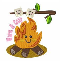 Warm & Cozy Bonfire embroidery design