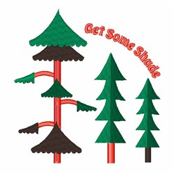 Evergreen Trees Shade embroidery design