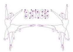 Ballerinas Dance embroidery design