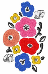 Mod Flowers embroidery design