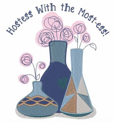 Hostess embroidery design