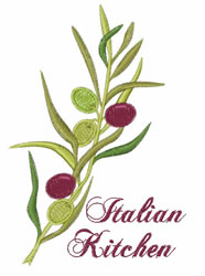 Italian Kitchen embroidery design