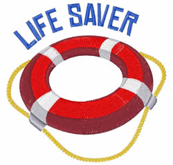 Life Saver embroidery design