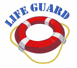 Life Guard embroidery design