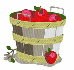 Apple Basket embroidery design