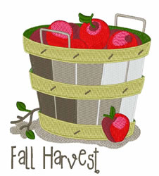 Fall Harvest embroidery design