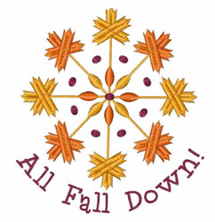 All Fall Down embroidery design