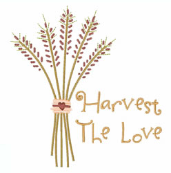 Harvest The Love embroidery design