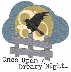 Dreary Night embroidery design