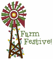 Farm Festive embroidery design