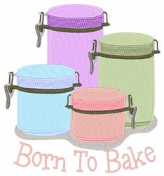 Born To Bake embroidery design