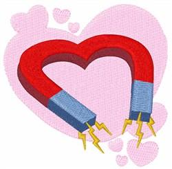 Valentine Magnet embroidery design