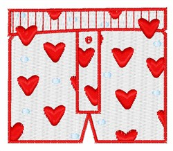 Valentine Boxers embroidery design