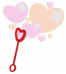 Valentine Bubbles embroidery design