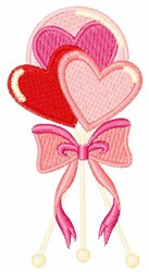 Valentine Lolly Pops embroidery design