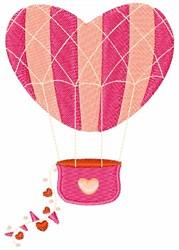 Valentine Balloon embroidery design