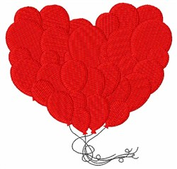 Balloon Hearts embroidery design
