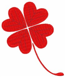 Valentine Heart Clover embroidery design