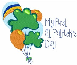 My First St. Patricks Day Balloons embroidery design