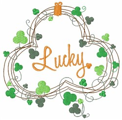 St. Patricks Lucky Clover embroidery design