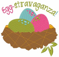 Easter Egg-stravaganza Nest embroidery design