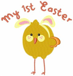 My First Easter Chick embroidery design