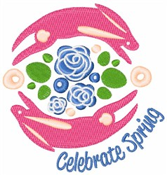 Easter Celebrate Spring embroidery design
