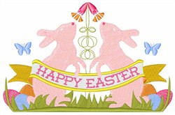 Easter Bunny Crest embroidery design
