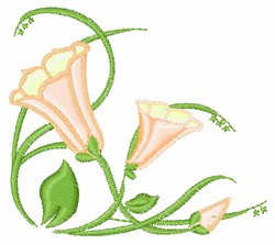 Easter Lily Corner embroidery design