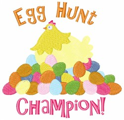 Easter Egg Hunt Champion embroidery design