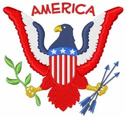America Eagle Crest embroidery design