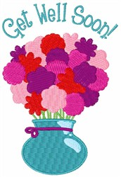 Get Well Soon! embroidery design