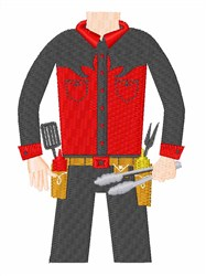 Griller embroidery design